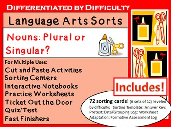 LA Sorts for Interactive Learning: Singular or Plural Nouns