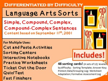 LA Sorts for Interactive Learning: Simple, Compound, Complex, Comp-Complex Sent