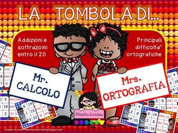 LA TOMBOLA DI Mr. CALCOLO & Mrs. ORTOGRAFIA
