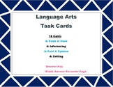 LA Task Cards-includes: 4 cards of each: POV, Fact/Opinion