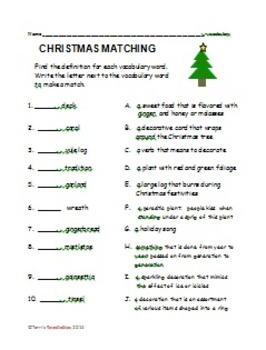 Language Arts Christmas - vocabulary, fact and opinion, plurals, writing,...