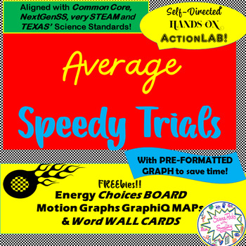 LAB Average Speedy Trials-Calculate SPEED & Avg SPEED- with some FREE Extras!