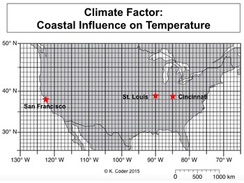 LAB - Coastal Influence on Temperature (w/ PowerPoint)