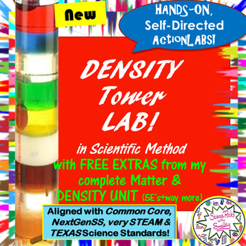 Density Tower LAB!  w/FREE extras from new Matter & DENSITY complete UNIT