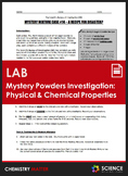 LAB - Mystery Powders - Physical and Chemical Properties o