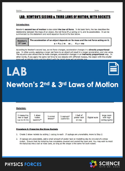 LAB - Newton's Second and Third Laws of Motion - Rocket Launching