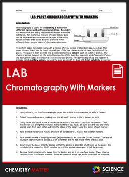 Chromatography Worksheet Teachers Pay Teachers