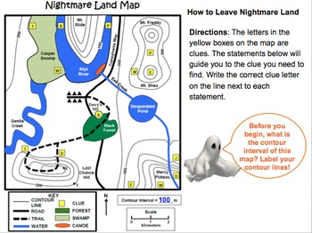 LAB - Nightmare Land Contour Map PowerPoint
