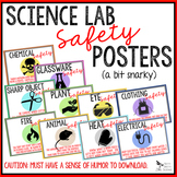 LAB SAFETY POSTERS - Secondary Science (humor)