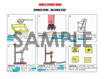 LAB - Separate Sand, Salt and Iron Filings and Comic Strip Activity