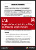 LAB - Separate Rocks, Sand, Salt & Iron Filings - A Comic Strip Lab Activity
