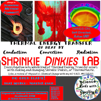 LAB Shrinky Dinkies-a Lesson in Thermal Energy Transfer & Chemical Change+EXTRAS