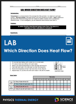 LAB - What Direction Does Heat Flow?