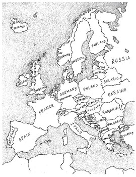 Labeled Europe Map Blank.Labeled Map Of Europe With Blank Map By Jessica Kiefer Tpt