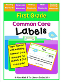 COMMON CORE LABELS  {1st Grade Standards}