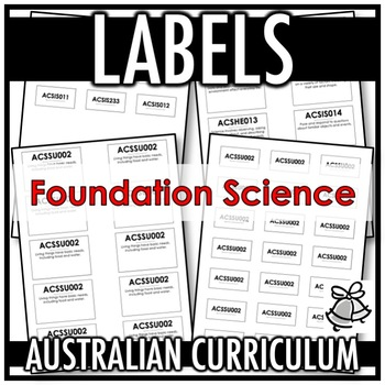 LABELS | AUSTRALIAN CURRICULUM | FOUNDATION SCIENCE