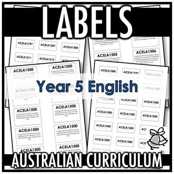 LABELS | AUSTRALIAN CURRICULUM | YEAR 5 ENGLISH