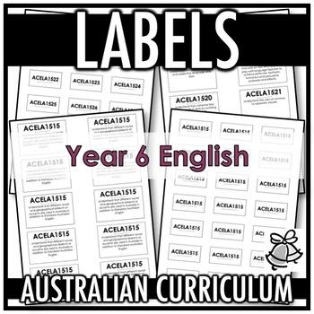 LABELS | AUSTRALIAN CURRICULUM | YEAR 6 ENGLISH