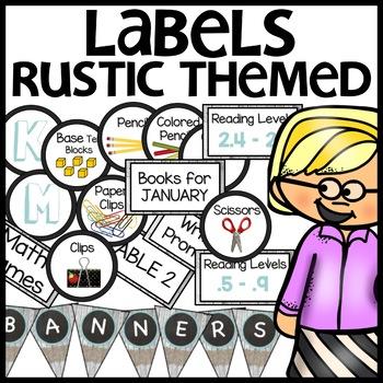 LABELS Classroom Decor (Rustic Themed)