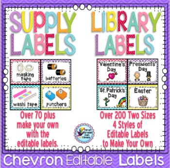 Labels for Classroom and Library