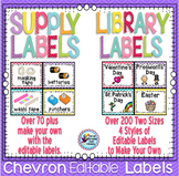 Classroom Library Labels and Classroom Supplies Labels