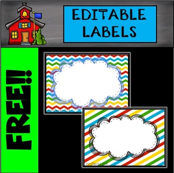 Editable Labels Back to School Colors