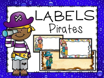 Editable Pirate Themed Labels