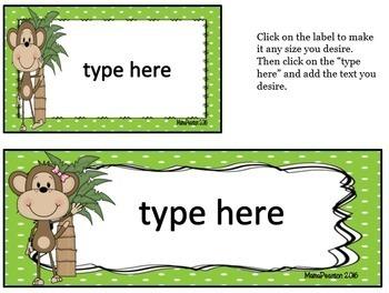 Editable Monkey Labels