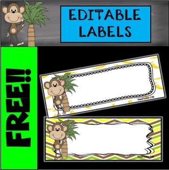 Editable Monkey Labels