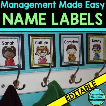 LABELS: Editable Multipurpose Labels for Classroom Organization