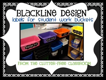 LABELS FOR STUDENT WORK BASKETS, EDITABLE - {Blackline Design Collection}