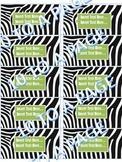 LABELS    ZEBRA PRINT - black stripes 10 TO A PAGE
