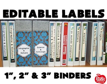 LABELS for Binders / Ready to EDIT on PPT