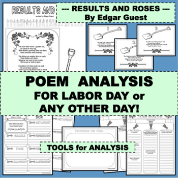 LABOR DAY AND MORE Fun Activity RESULTS AND ROSES Poem for Poetry Study