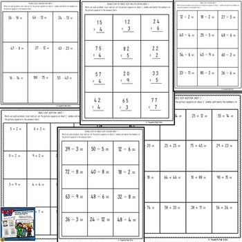LABOR DAY BACK TO SCHOOL NUMBER SENSE PUZZLE COLORING FUN