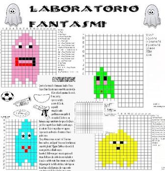 LABORATORIO COMPLETO IN PIXEL ART, CONTIENE 3 STORIE DIVERSE,  29 PAGINE TOTALI