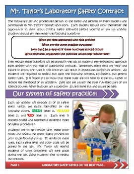 LABORATORY SAFETY - safety procedures and individual student contract
