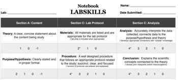 LABSKILLS Notebook Rubric