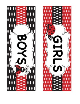 LADY BUG THEME CLASS PASS