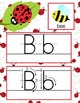 LADY BUGS - Alphabet Cards, Handwriting, Flash Cards, ABC print with pictures