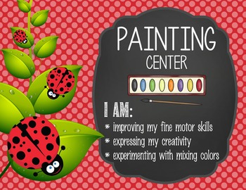 LADY BUGS - Classroom Decor: Center Signs, student cards