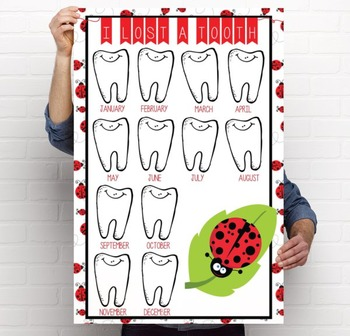 LADY BUGS - Classroom Decor: I lost a TOOTH - size 24 x 36