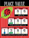 LADY BUGS - Classroom Decor: Place Value Chart - size 18 x 24
