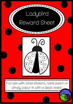 LADYBIRD reward sheet LADYBUG freebie