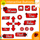 LADYBUG ANIMATED BUTTONS CLIP ART FOR BOOM CARDS- GIF