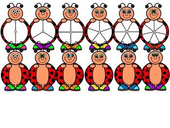 LADYBUG CLIP ART- LADYBUG SPINNERS CLIP ART- 24 IMAGES- CU