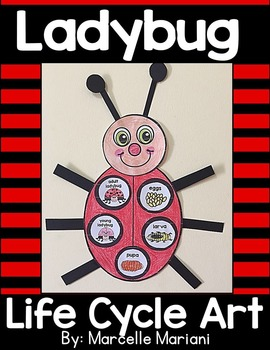 LADYBUG LIFE CYCLE ART ACTIVITY