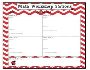 LADYBUG Math Workshop Planner {Stations/ Centers}