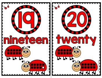 LADYBUG Math Number Posters 11 - 20