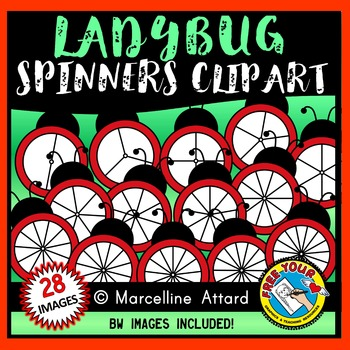 LADYBUG SPINNERS CLIPART: SPRING CLIPART